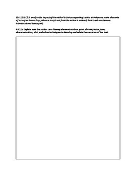 Common Core ELA 11-12 Critical Reading Worksheet Literary Text