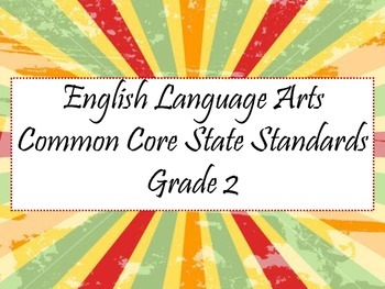 Common Core ELA 2nd Grade