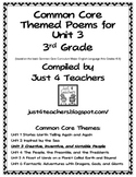 Common Core ELA-3rd Grade Unit 3 Suggested Poems