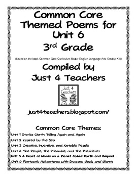 Common Core ELA-3rd Grade Unit 6 Suggested Poem