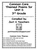 Common Core ELA-3rd Grade Unit 6 Suggested Poem