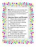 Common Core ELA 3rd grade Literature Question Stem posters