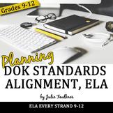 Common Core ELA 9-12 Webb's Depth of Knowledge Alignment Checklist