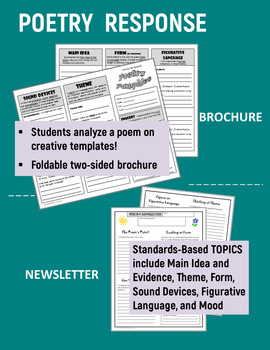 Poetry & Short Stories: Brochures and Newsletters for ANY Text - Common Core