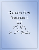 Common Core ELA Assessment (Pippi Longstocking)