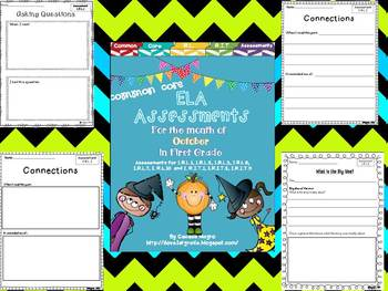 Common Core ELA Assessments- 1st Grade - October