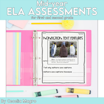 Common Core ELA Assessments- 1st and 2nd Grade - January