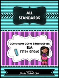 Common Core ELA Assessments Grade 1 (ALL STANDARDS PACK)