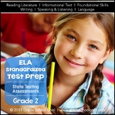 English Language Arts Assessments Grade 2 (Common Core ELA Test Prep)