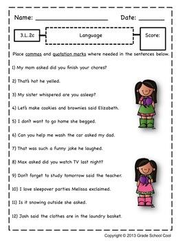 Common Core ELA Assessments Grade 3 (Language)