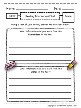 Common Core ELA Assessments Grade 3 (Reading Informational Text)