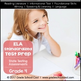 English Language Arts Assessments Grade 4 (Common Core ELA Test Prep)