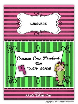 Common Core ELA Assessments Grade 4 (Language)