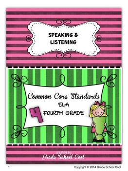 Common Core ELA Assessments Grade 4 (Speaking & Listening)