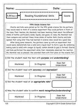 Common Core ELA Assessments Grade 5 (ALL STANDARDS PACK)