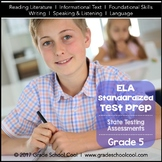 English Language Arts Assessments Grade 5 (Common Core ELA Test Prep)