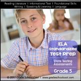 English Language Arts Assessments Grade 5 (Common Core ELA Test Prep)