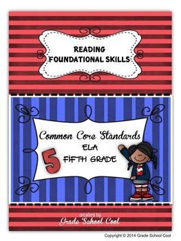 Common Core ELA Assessments Grade 5 (Reading Foundational Skills)