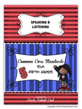 Common Core ELA Assessments Grade 5 (Speaking & Listening)