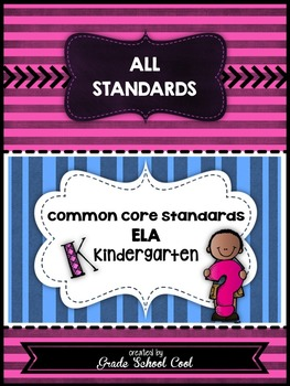 Common Core ELA Assessments Grade K (ALL STANDARDS PACK)