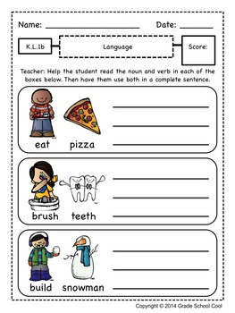 Common Core ELA Assessments Grade K (Language)