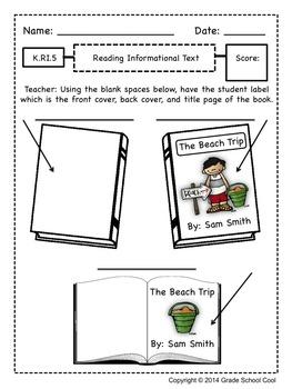 Common Core ELA Assessments Grade K (Reading Informational Text)