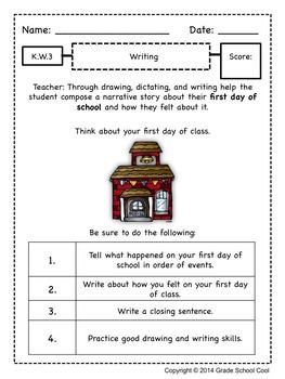 Common Core ELA Assessments Grade K (Writing)