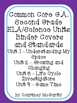 Common Core ELA/Sci. Binder Covers