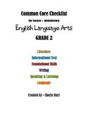 Common Core (ELA) Checklist for 2nd Grade (Grade 2)