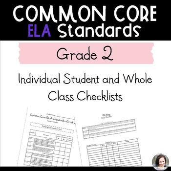 Common Core ELA Checklists - Grade 2