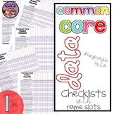 Common Core ELA Data Checklist {1st Grade}