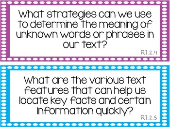 Reading & ELA Essential Questions for 2nd Grade {Common Core}