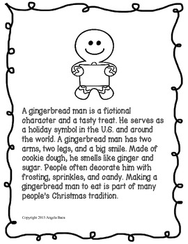 Common Core ELA Expository Gingerbread Man Writing Mini Unit