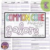 Common Core ELA Galore {Kindergarten checklist}