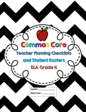 4th Grade Common Core ELA Checklists and Student Rosters