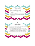 Common Core ELA Grade 5 Language Standards Chevron Border
