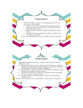 Common Core ELA Grade 5 Writing Standards Chevron Border