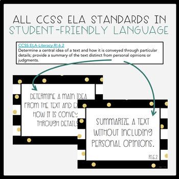 Common Core ELA Grade 6 I Can Statements