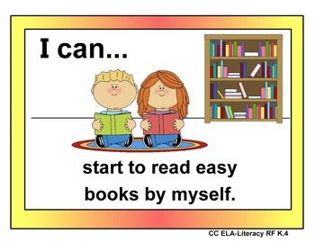 "Common Core ELA ""I Can"" Posters Kinder Level"