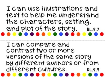 Common Core ELA I Can Statements for 2nd Grade