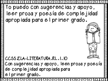 Common Core ELA I can Posters Spanish