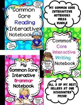 Common Core ELA Interactive Notebook-Mega Bundle
