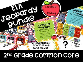Common Core ELA Jeopardy BUNDLE - 2nd Grade