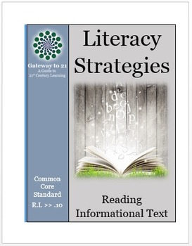 Common Core Literacy Strategies/Centers (CCSS.ELA-RI.>>10) (Grades 2-8)