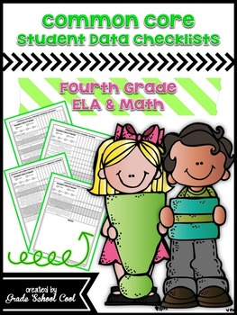 Common Core: ELA & Math Assessments, Checklists, & Posters Grade 4 Combo Pack