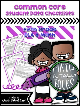 Common Core: ELA & Math Assessments, Checklists, & Posters Grade 5 Combo Pack