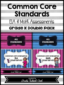 Common Core: ELA & Math Assessments, Checklists, & Posters Grade K Combo Pack