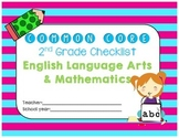 Common Core ELA & Math Checklist Bundle for 2nd grade