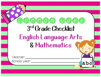 Common Core ELA & Math Checklist Bundle for 3rd grade