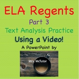 Common Core ELA Part 3 Review - Fun Practice Using a Video